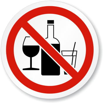 No Alcohol Sign Clipart